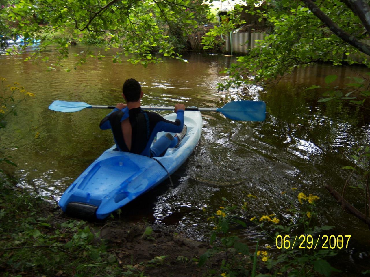 Kayak sur la Palue
